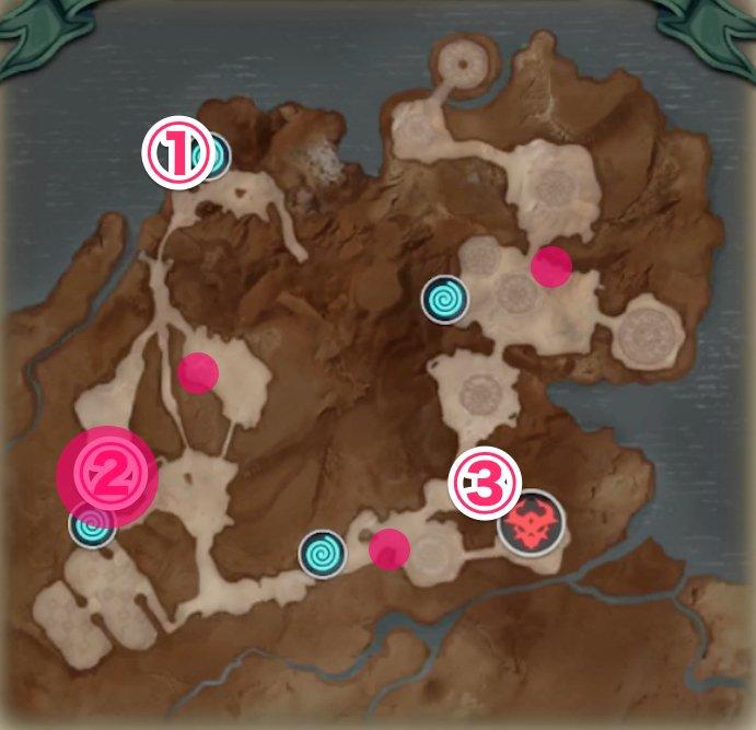 虹の峡谷の宝箱の場所