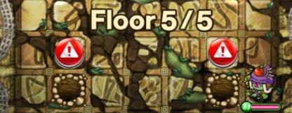 22階ボスフロアのモンスター穴の位置