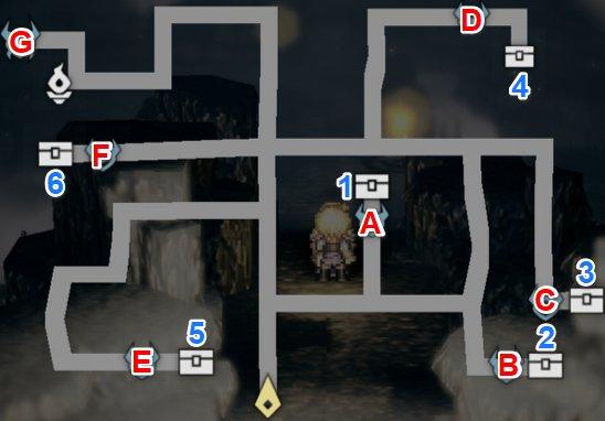 山洞の大鼠マップ