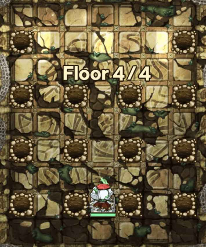 コキュートス編19階ボスフロアのモンスター穴の位置