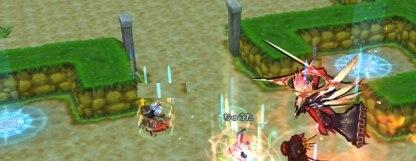 敵を全滅させた際に他のプレイヤーがいるエリアへ助けに行けるワープが出現している画像