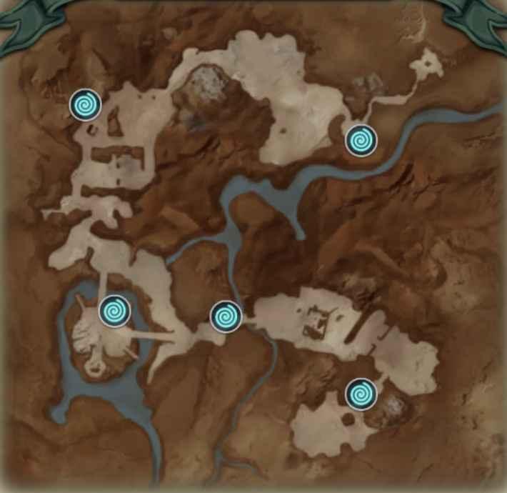 クロマル荒野のマップ画像