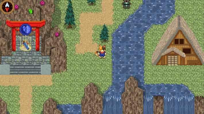 Doodle チャンピオン アイランド ゲーム マップ上の画面