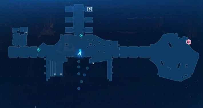 3Fエレベーターフロアのマップ