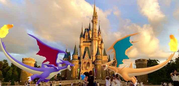 城を守る2頭の龍
