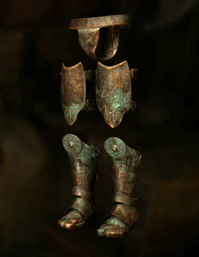 古き王の足甲