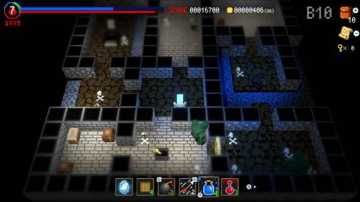 ダンジョンに捧ぐ墓標のゲーム画面