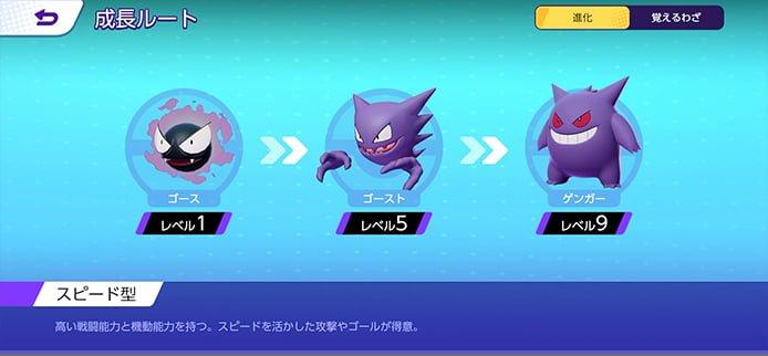 ポケモンユナイトの進化