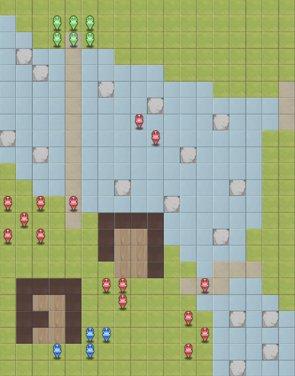 「14-7:救出、カコンシス軍」のマップ画像