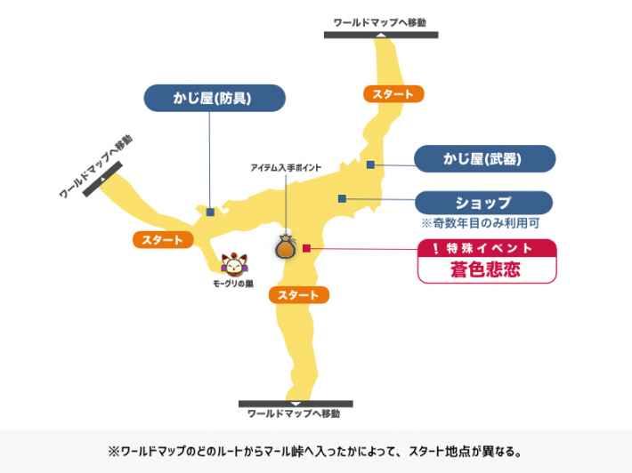 マール峠のマップ