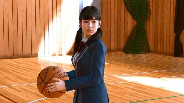 LOST JUDGMENT:裁かれざる記憶 香田真美 バスケットボールを持つシーン