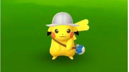探検帽ピカチュウ