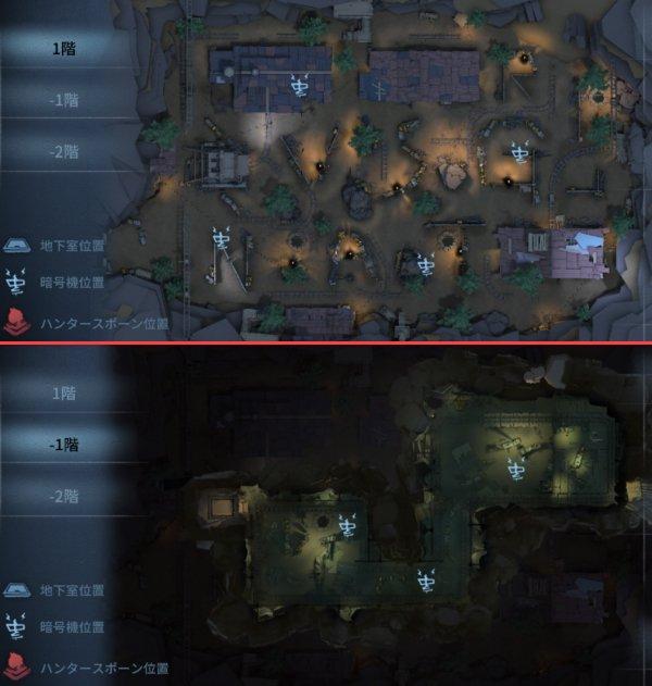 黄金の石窟の暗号機マップ1