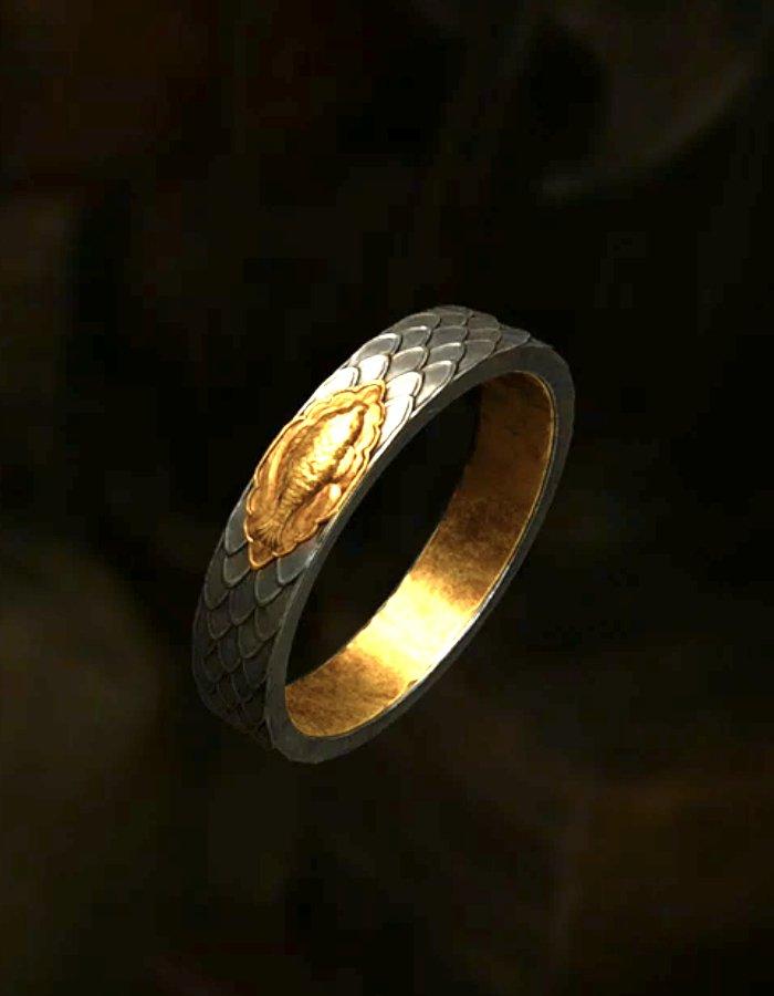 水濡れの指輪