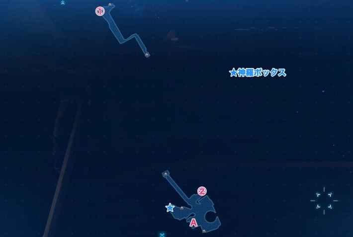 亀裂の抜け道のマップ