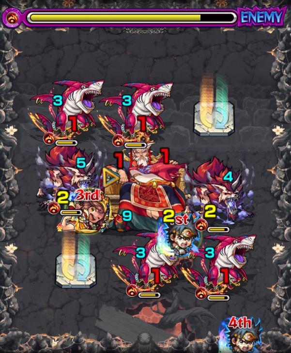 禁忌の獄【1/獰悪の牙鮫炎】の第2ステージ