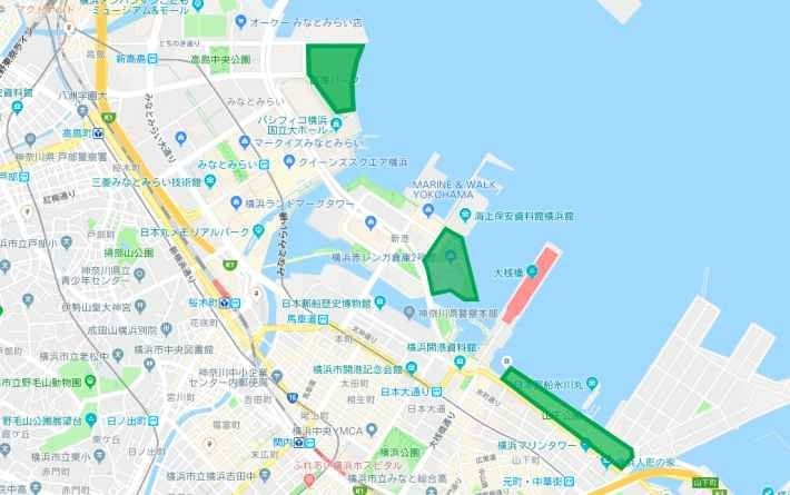横浜周辺の地図イメージ