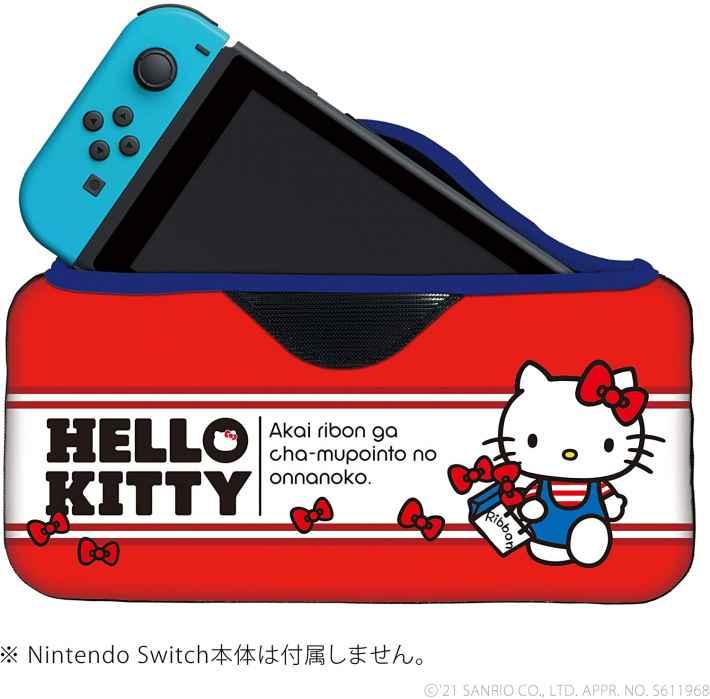 サンリオキャラクターズ クイックポーチfor Nintendo Switch ハローキティのデザイン