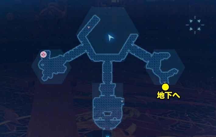 コルネオの館2Fのマップ