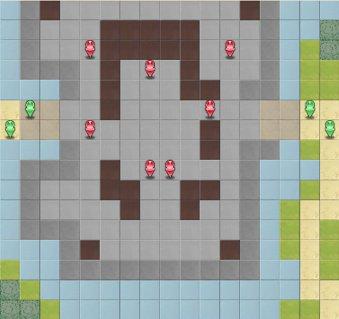 6-6:バルディア城攻防戦のマップ画像