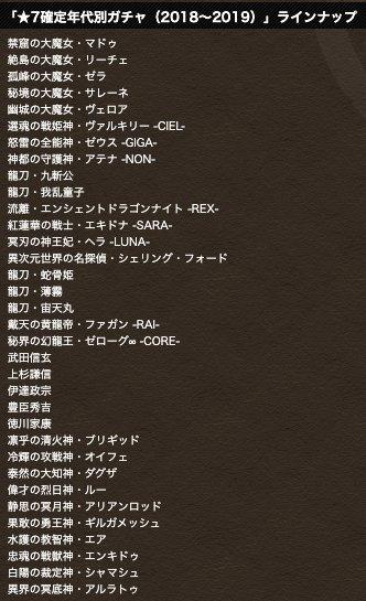 2018〜2019ラインナップ