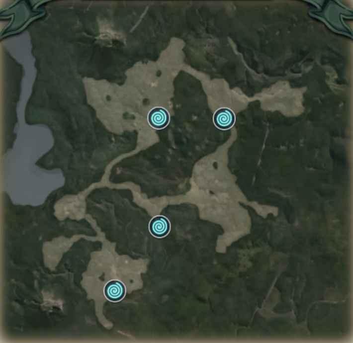 モエールの森のマップ画像