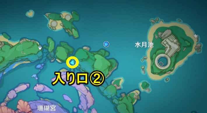 無相の水ヒイの入り口マップ2
