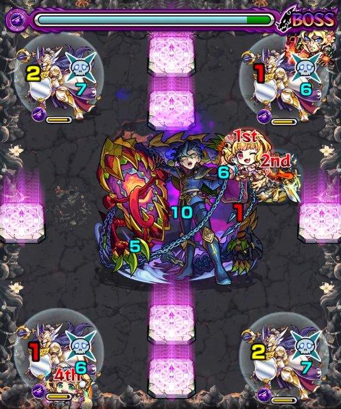 禁忌の獄【裏10/暗影と義狂の騎士】のボス1