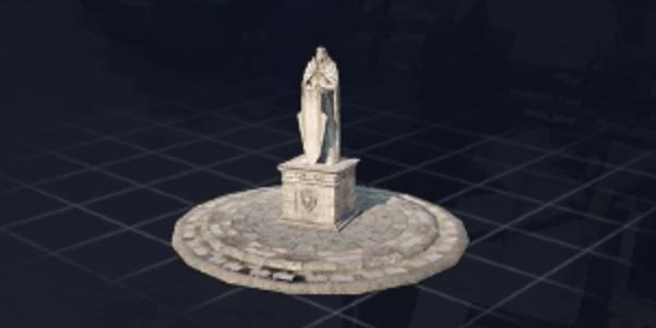 職人の石像