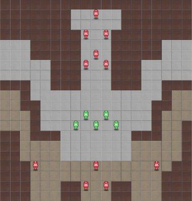 「トライアングル」ステージのマップ画像