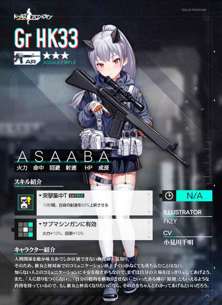 Gr HK33の立ち絵画像