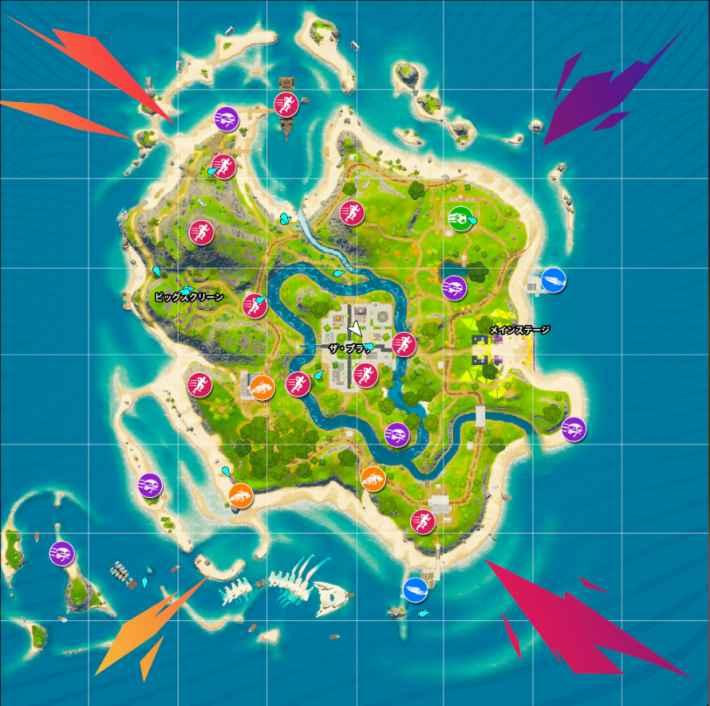 パーティーロイヤルのマップ