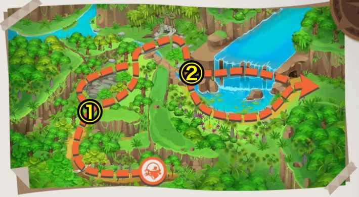 ジャングルの全体マップ