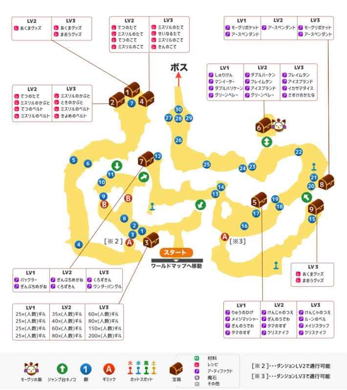 キノコの森のマップ画像