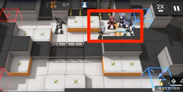 序盤は防衛ラインの近くを守る