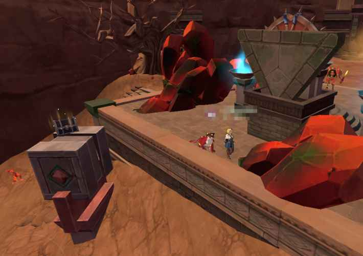 神殿の中のボックス