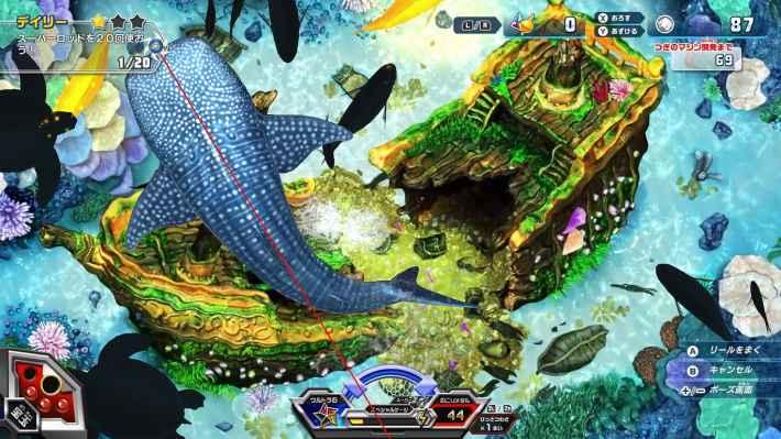 『釣りスピリッツ Nintendo Switchバージョン』のゲームプレイ画面の画像
