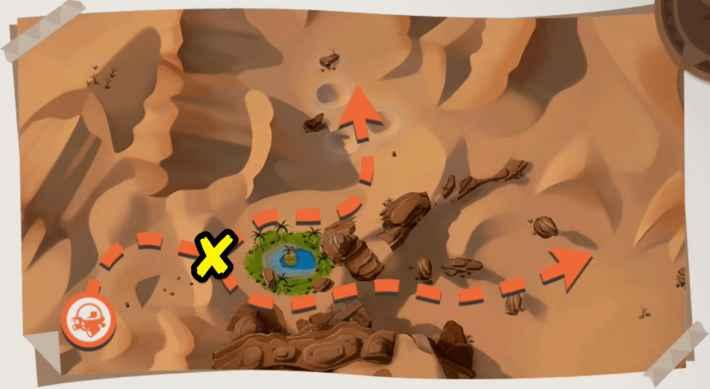 砂漠の全体マップ