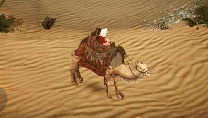 移動手段は馬ではなくラクダ