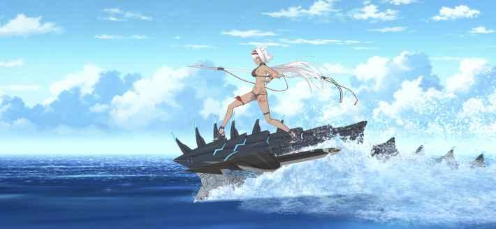 水着カイニスの宝具演出画像