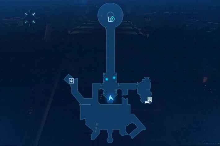 宝条研究室メインフロアのマップ
