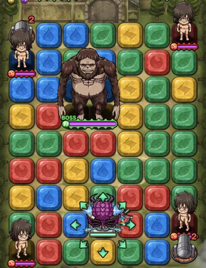 獣の巨人超絶降臨フロア3全体