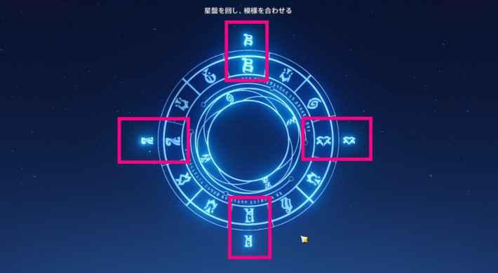 星盤の揃え方