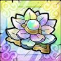 開花の花・虹のアイコン