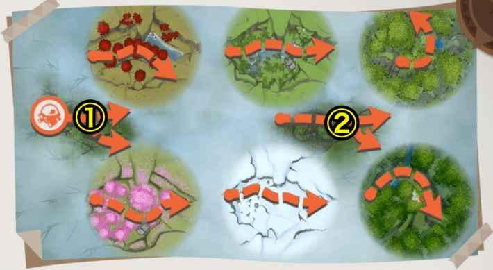 樹海の全体マップ
