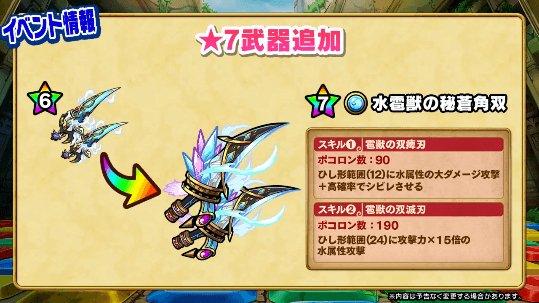 ミズガルズの武器が★7極幻進化