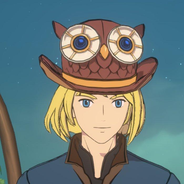 ソードマンのフクロウ帽子画像