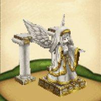 幸運の女神像