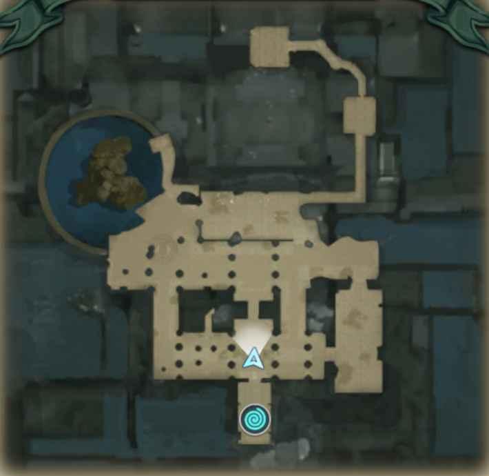 グレイナス南部地下水路のマップ画像