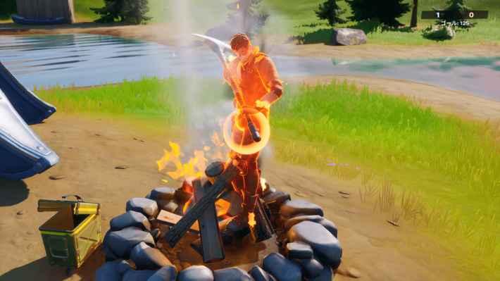 焚き火の使用方法④